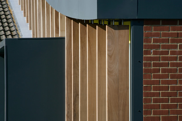 Brise soleil on southern elevation
