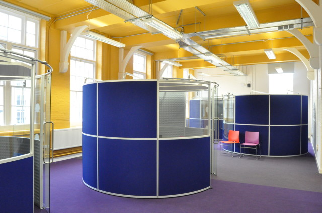 Photo of completed works - meeting booths