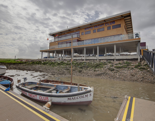 Image of Sitting on stilts on the banks of the River Thames estuary  the yacht club is designed to provide all users a place to store their boats, enjoy the facilities and the views across the water.