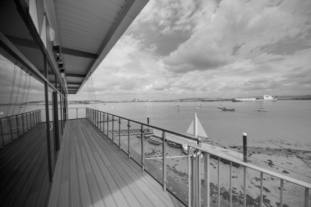 Photo of completed works - Viewing deck over River Thames