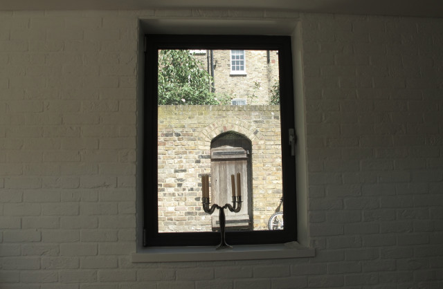 Photo of completed works - original window detail
