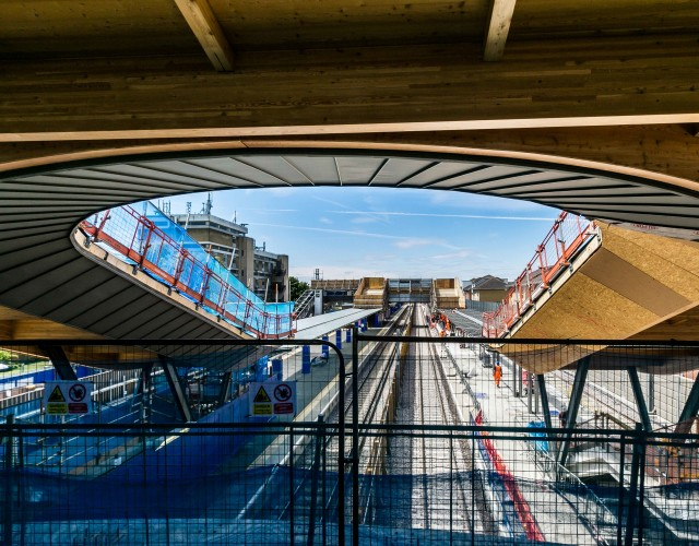 Image of Dynamic station and transport interchange at Abbey Wood marking the geographical start of Crossrail, the most ambitious and advanced railway network in Europe