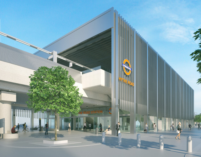 Image of Design for a new Old Oak Common station which will join the Elizabeth line and National Rail services connecting to central London and Heathrow Airport