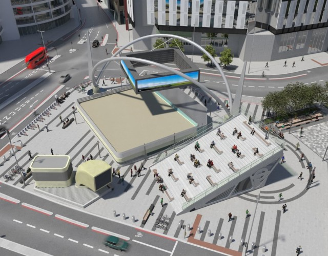 Image of Work begins on Old Street roundabout transformation