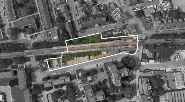 Station site at White Hart Lane, Tottenham, London