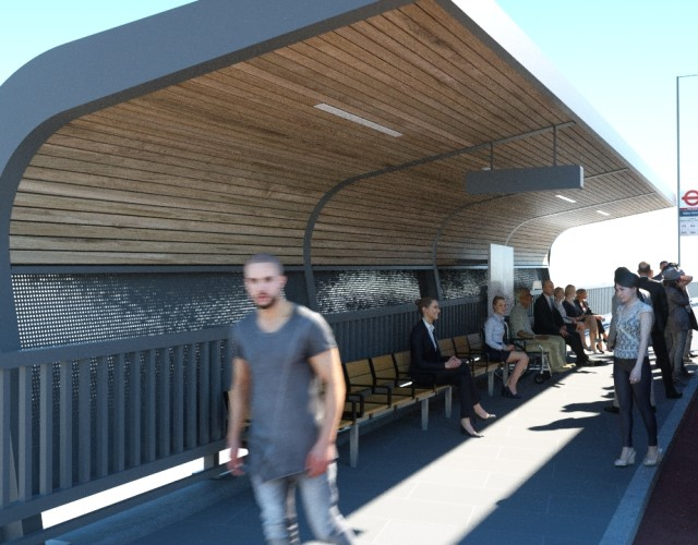 Image of Bus shelter design at Abbey Wood Station