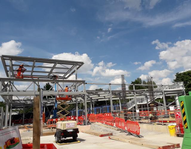 Image of Progress update, work on site at Kidbrooke Station