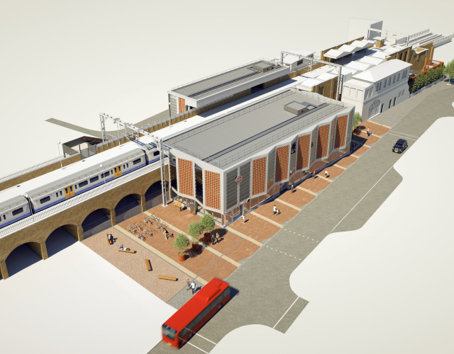 Image of White Hart Lane Station upgrade onsite