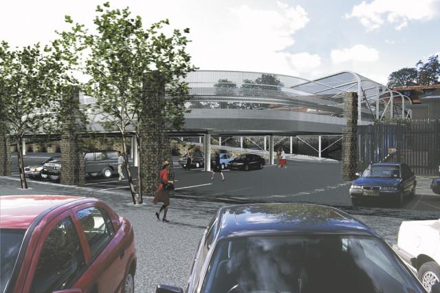 East Finchley Car Park, Bus Park visualisation