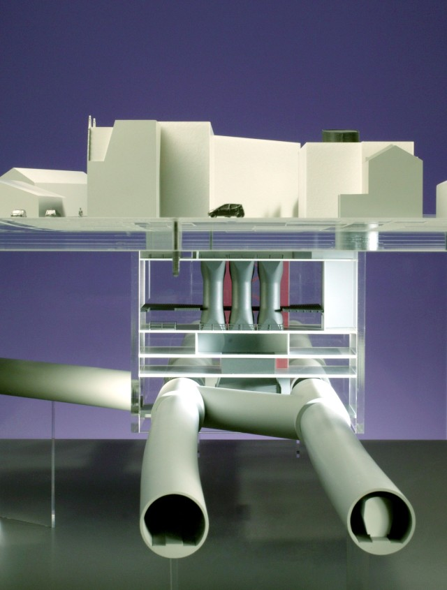 Model showing below ground infrastructure at Hanbury Street