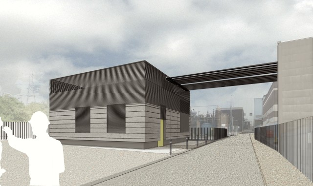 Sketch proposals for the head house at Wimbledon sub station