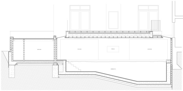 Swimming Pool Section Drawing