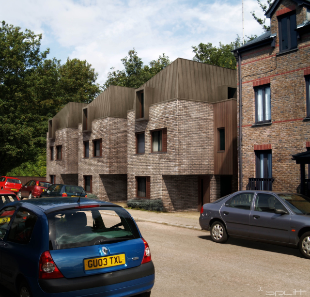 Street view of the proposed town houses