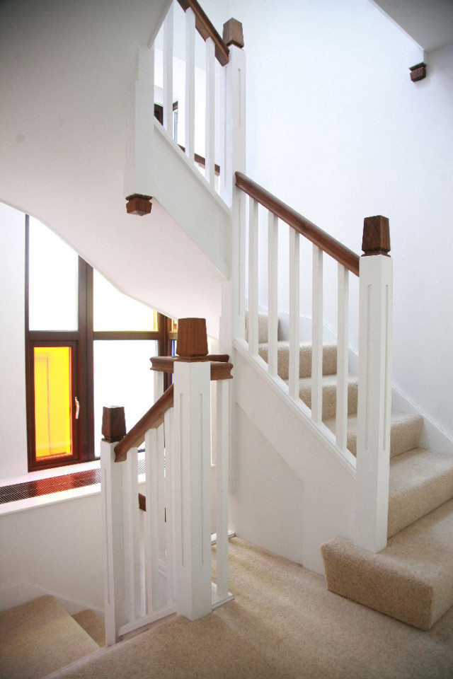 Main stair in one of the house types