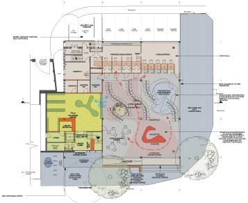 Burnt Oak Library proposal (Layout)