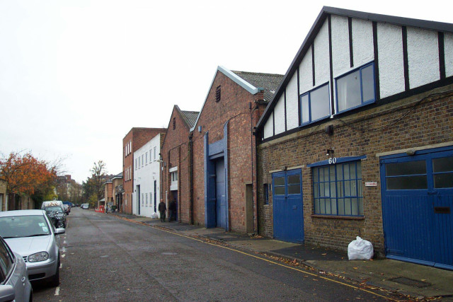 Existing view of warehouses along Glentham Road